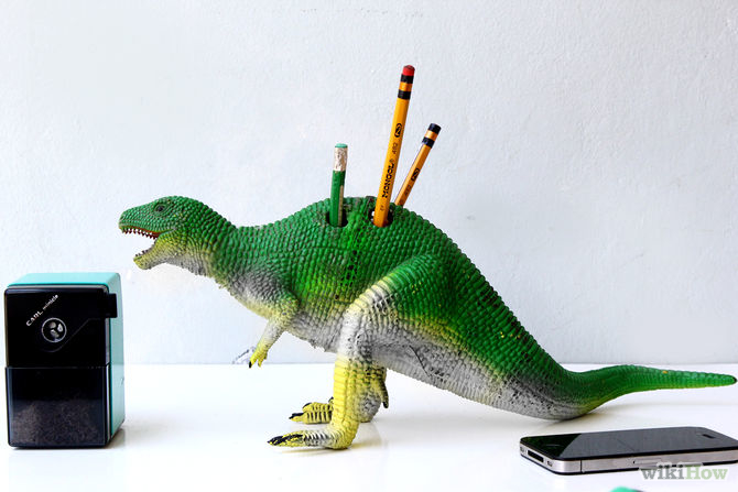 How to Make a Dinosaur Pencil Holder