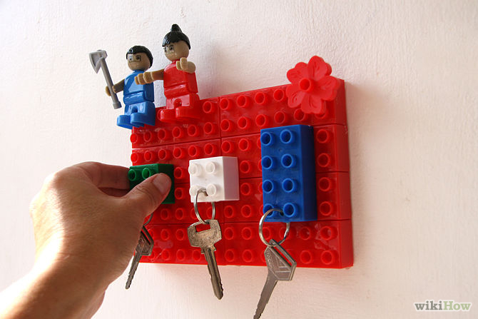 Hang each plastic block keychain on the plastic block key holder and you are ready with style.