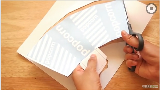 Cut out your template with a pair of sharp scissors.